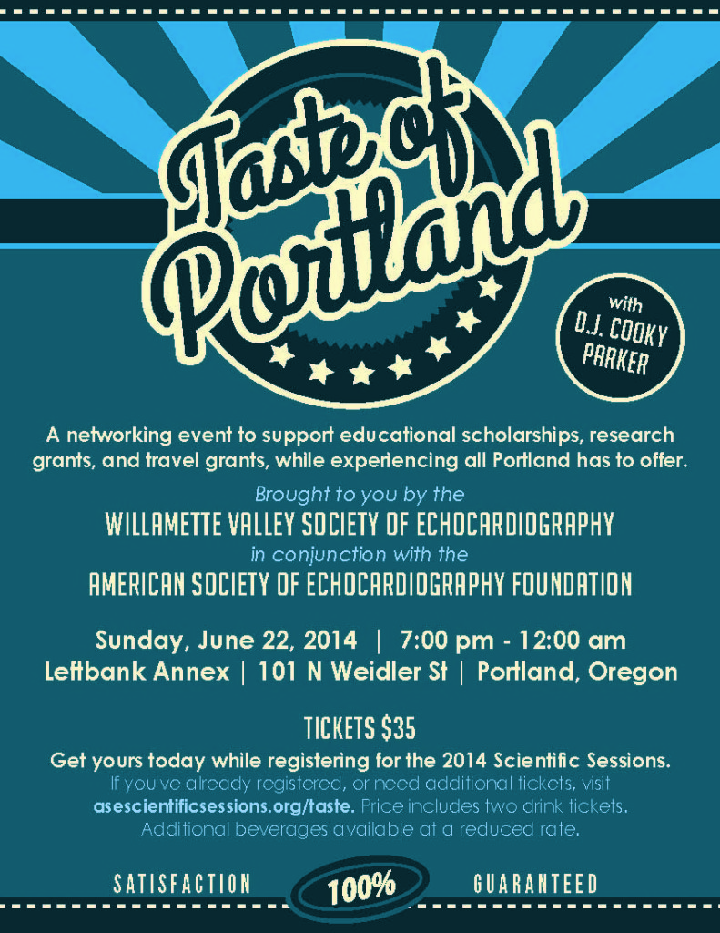 ASE 2014 Taste of Portland ad 1-4 page