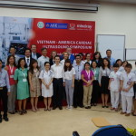 The ASEF team with Bach Mai Hospital staff and Mindray after the conclusion of the educational symposium. The Bach Mai staff took turns throughout the day translating our team's lectures into Vietnamese.